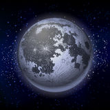 Luna piena grafica illustrazione vettoriale