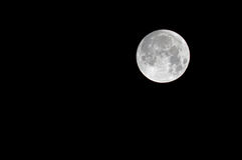 Luna piena nel cielo nero vuoto della notte Immagine Stock