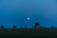 Luna piena nella notte immagini stock