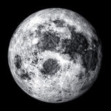 Luna piena realistica Fotografie Stock