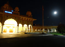 Luna piena, Sunnyvale Gurdwara Fotografia Stock