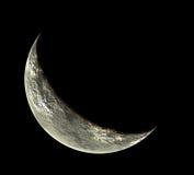Luna puesta en fase Fotografía de archivo