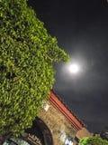 Luna que brilla intensamente en la noche fotos de archivo libres de regalías