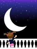 Luna - ragazza Immagini Stock