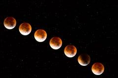 Luna rossa Fotografia Stock
