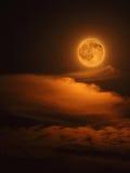 Luna rossa Immagini Stock