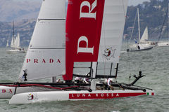Luna rossa at the America's cup 2012 Stock Photo
