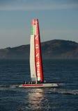 Luna Rossa van de Kop van Amerika boot die door Prada wordt gesponsord Stock Afbeeldingen