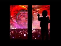 Luna sanguinante Eclipse lunare Immagine Stock