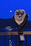 Luna sobre el lago George Fotografía de archivo libre de regalías