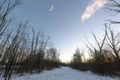 Luna sobre Morrow foto de archivo