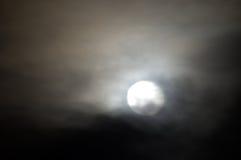 Luna solitaria Fotografia Stock Libera da Diritti