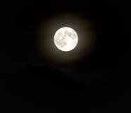 Luna sopra il picco Fotografia Stock Libera da Diritti