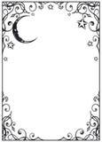 Luna, stelle Fotografia Stock