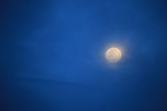 Luna sul cielo notturno Immagine Stock