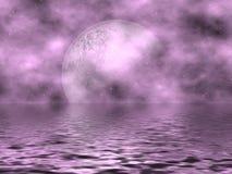 Luna y agua de la lavanda Foto de archivo