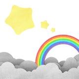 Luna y arco iris Foto de archivo libre de regalías
