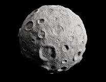 Luna y cráteres. Asteroide. Foto de archivo