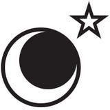 Luna y estrella ilustración del vector