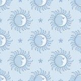 Luna y estrella Modelo inconsútil Foto de archivo libre de regalías
