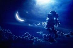Luna y estrellas Fotos de archivo libres de regalías