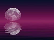Luna y lago Foto de archivo libre de regalías