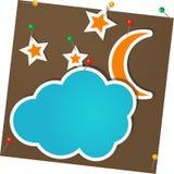 Luna y nubes Libre Illustration
