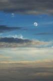 Luna y nubes Imagen de archivo libre de regalías