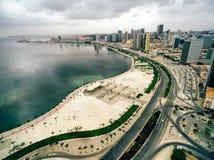 Lunada, Angola. The Bay of Luanda and the marginal in Angola`s capital city of Luanda stock image