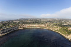 Lunada-Bucht Palos Verdes Estates California Aerial lizenzfreie stockbilder