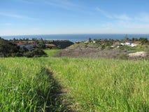 Lunada Canyon. Ocean view form the Lunada Canyon Trail, Palos Verdes Peninsula, CA Royalty Free Stock Photography