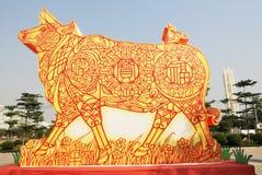 An lunaire chinois de taureau Images stock