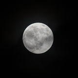 Lunaire le 16 septembre 2016, fermez-vous vers le haut de la pleine lune montrant le détail du cratère Photographie stock libre de droits