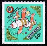 Lunakhod Soyuz, Space research serie, circa 1973 Royalty Free Stock Photos
