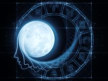 Lunar Attraction Royalty Free Stock Photography