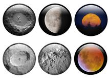 Lunar Buttons Royalty Free Stock Photos