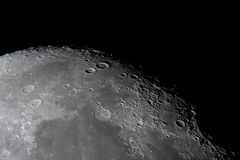 Lunar craters Royalty Free Stock Photos