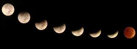 Lunar Eclipse. The lunar eclipse of 28th Oct. 2004, as seen from Yanbu, Saudi Arabia Royalty Free Stock Image