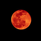 Lunar eclipse. Red brick color of Lunar eclipse Stock Image