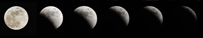 Lunar Eclipse. The moon as it seen from earth during a lunar eclipse Royalty Free Stock Image