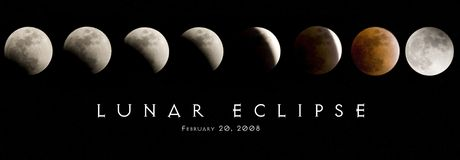 Lunar Eclipse 2008. Stages of the lunar eclipse from February 20, 2008 stock photography