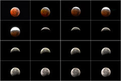 Lunar Eclipse 2010 Royalty Free Stock Photos