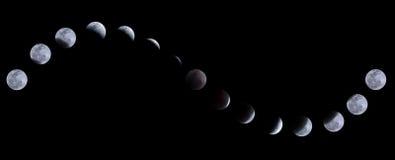 Lunar eclipse. On 10 December 2011, Bangkok, Thailand Stock Photography