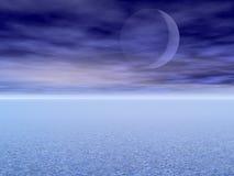Lunar eclipse royalty free illustration