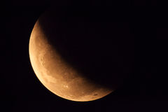 Lunar eclipse on 2015/04/04.  Stock Image