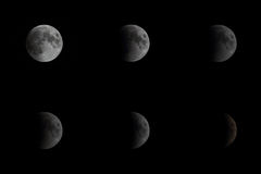 Lunar Eclipse on June 16th 2011, New Delhi, India Royalty Free Stock Image