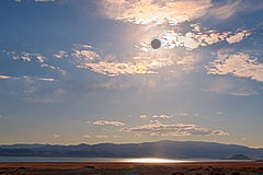 Lunar Eclipse Landscape Royalty Free Stock Image
