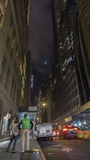 Lunar eclipse. New York City, New York State, lunar eclipse at night time, US Stock Photo