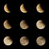 Lunar eclipse series Stock Photo
