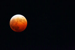 Lunar eclipse and Uranus Stock Photography